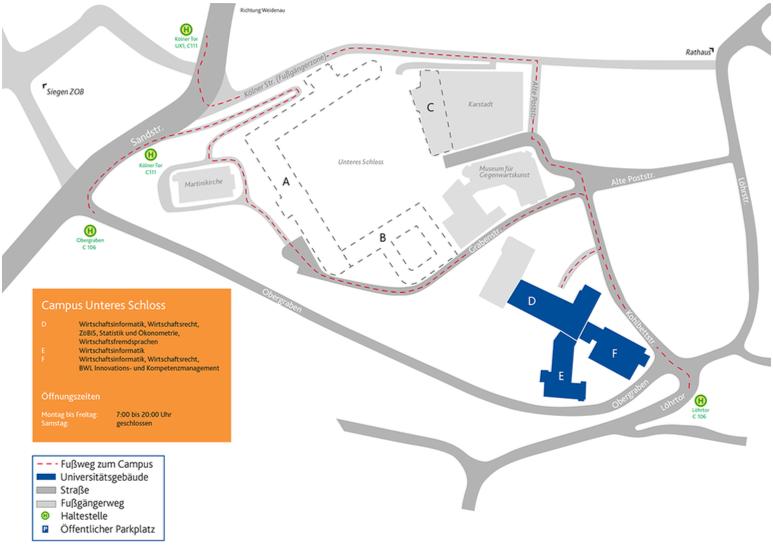 Lageplan US Campus