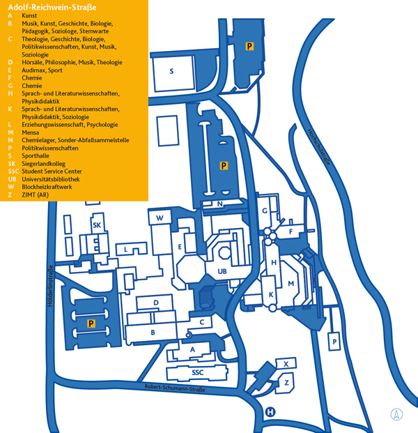 Lageplan AR Campus